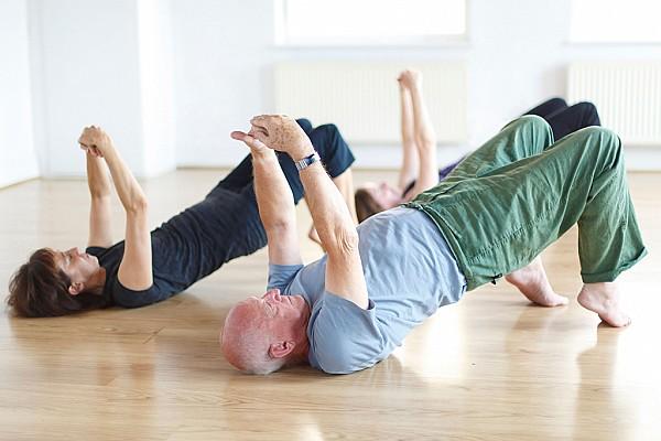 socially distanced yoga at our studio in Chorlton