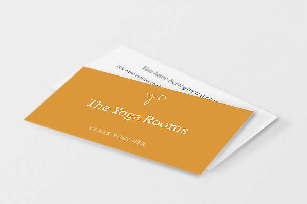 Voucher that can be used for yoga and pilates classes at The Yoga Rooms